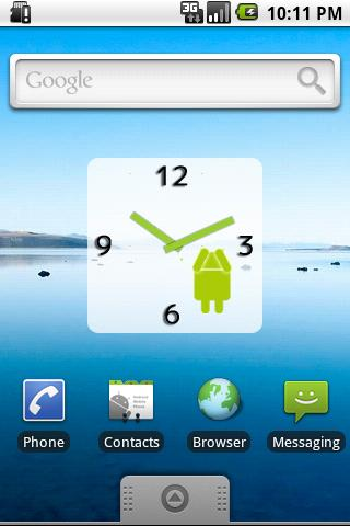 Droid Clock Widget Android Themes