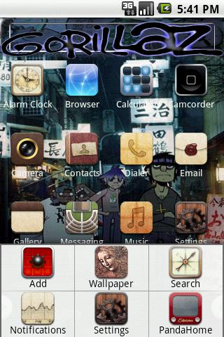 Theme:Gorillaz Android Themes