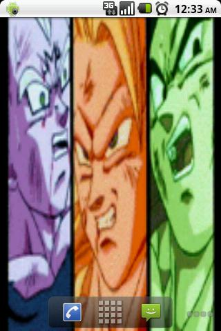 DBZ Characters Live Wallpaper Android Themes