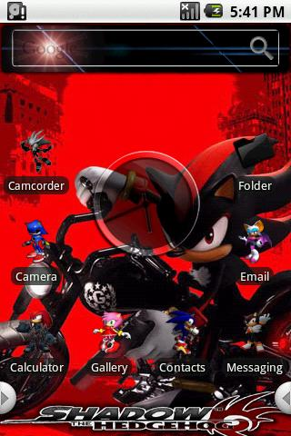 HD Theme:Sonic Shadow Android Themes