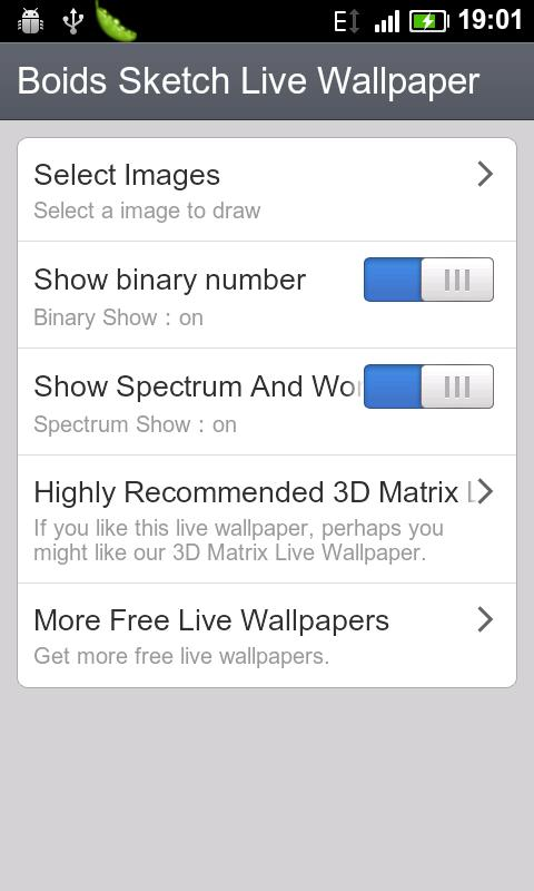 Boids Sketch Live Wallpaper Android Themes