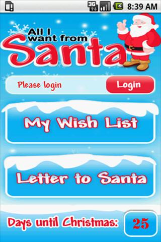A Letter To Santa – Wishlist Android Themes