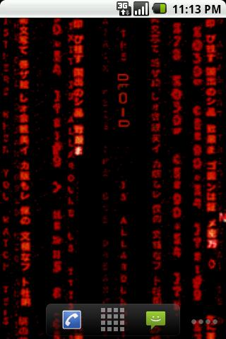 Matrix Red Live Wallpaper Android Themes