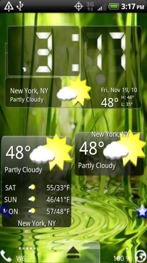 3D Weather Android Themes