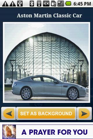 Aston Martin Cars Gallery Android Personalization