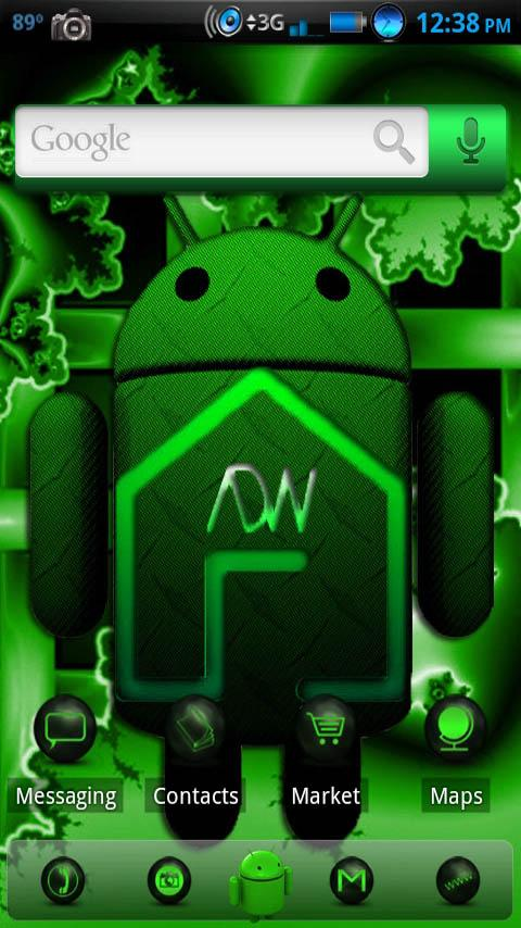 ADWTheme Antique Green Android Personalization