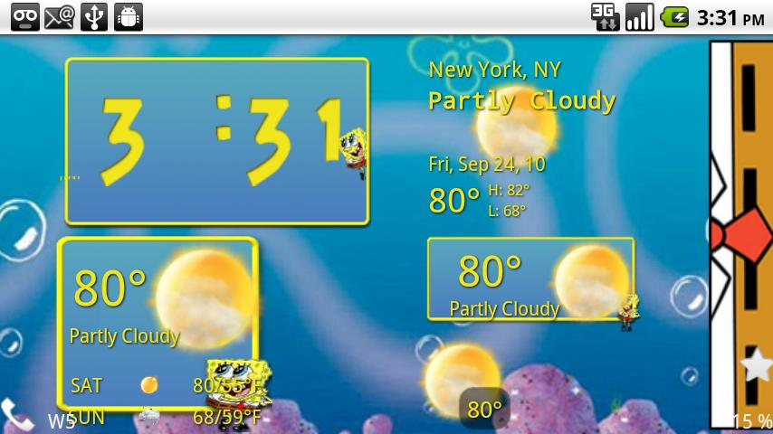 Sponge Bob Weather Android Themes