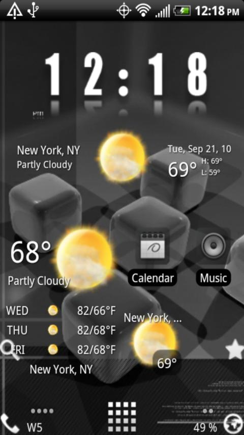 Home Plus Weather Android Themes