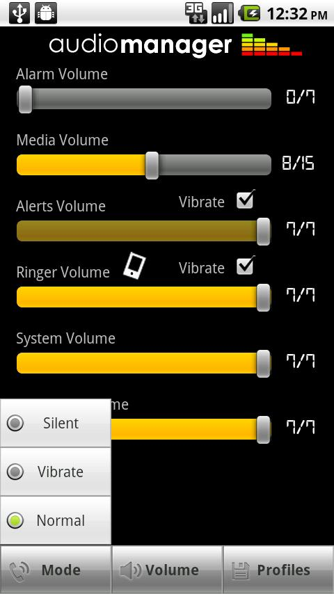 AudioManager Skin: Knobby Android Themes
