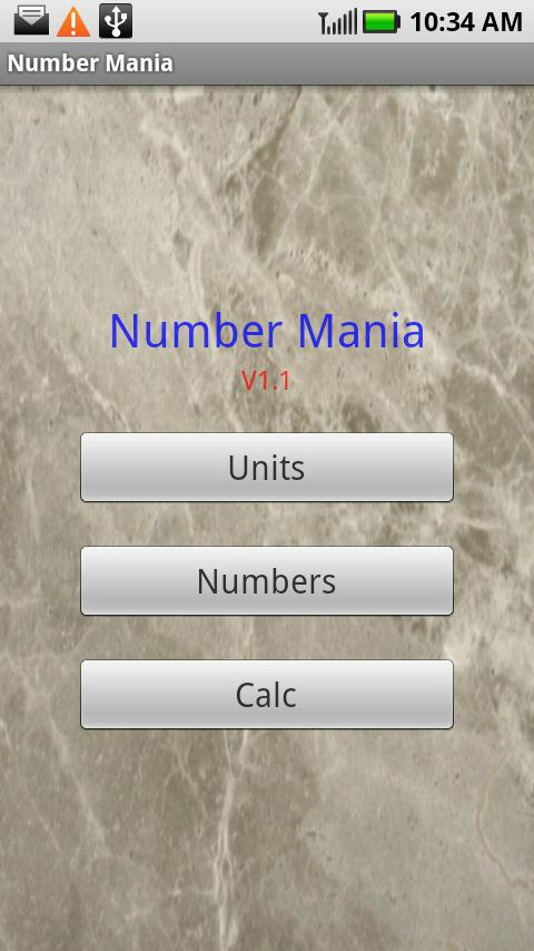 Number Mania Android Tools