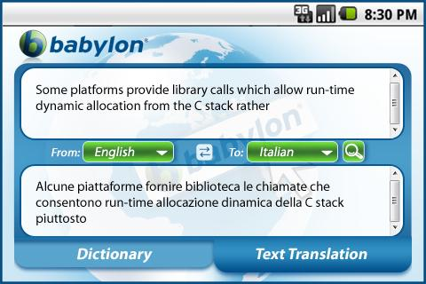 Babylon 2Go Translator Android Tools best android apps free download