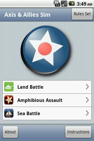 Axis & Allies Combat Simulator Android Tools