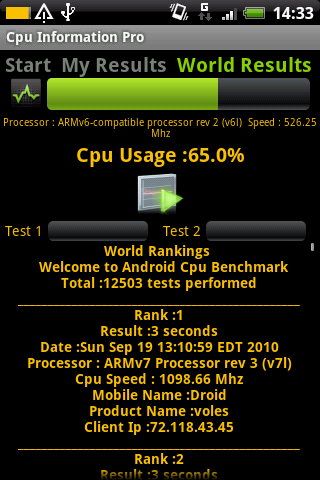Cpu Information Pro Android Tools