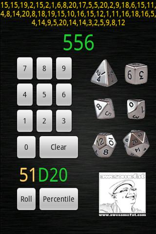 D20 Gaming Dice Android Tools