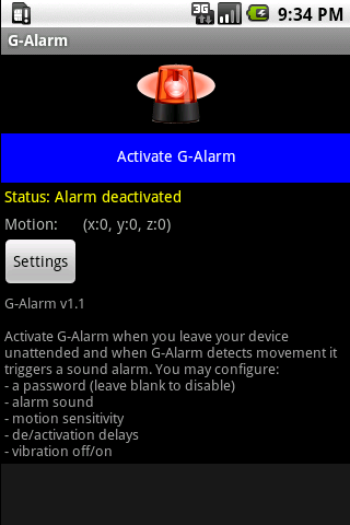 G-Alarm Android Tools