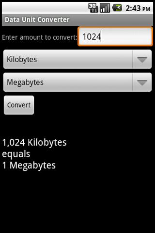 Data Unit Converter Android Tools
