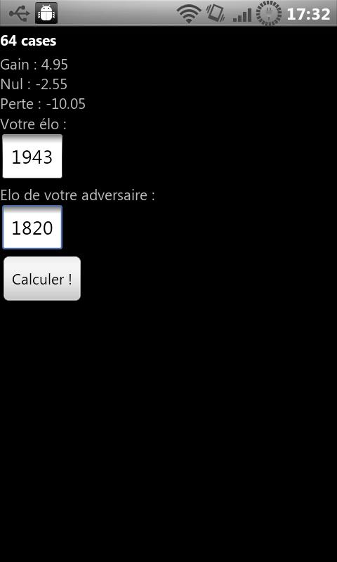 Elo calculator Android Tools
