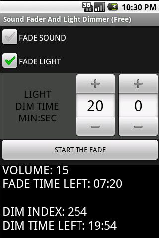 Sound Fader Light Dimmer Full Android Tools