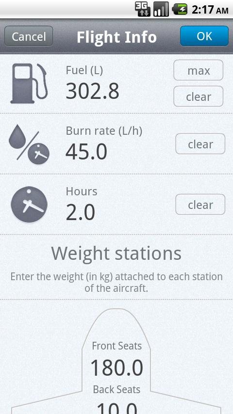 Weight & Balance Lite Android Tools