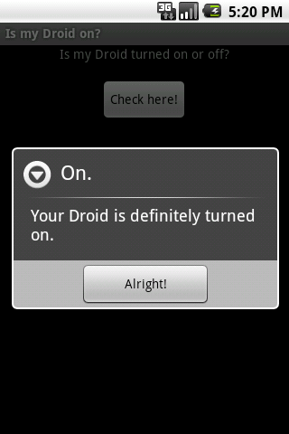 Is my Droid on? Android Tools