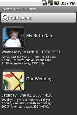 Events Time Counter Demo Android Tools