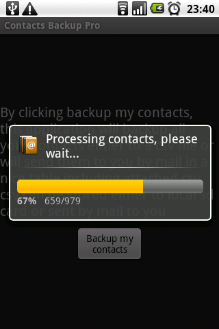 Contacts Backup Trial Android Tools