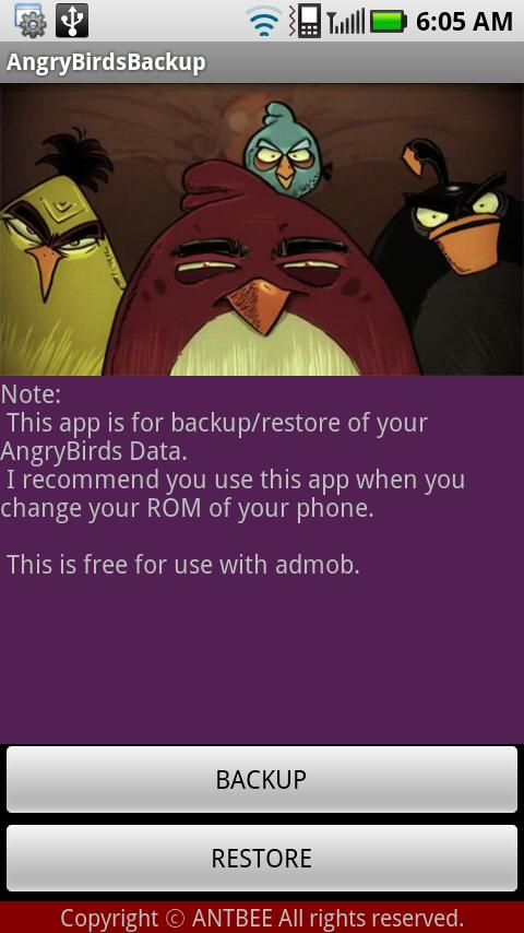 AngryBirds Backup Android Tools