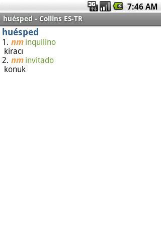 Spanish<>Turkish Mini Gem TR Android Demo