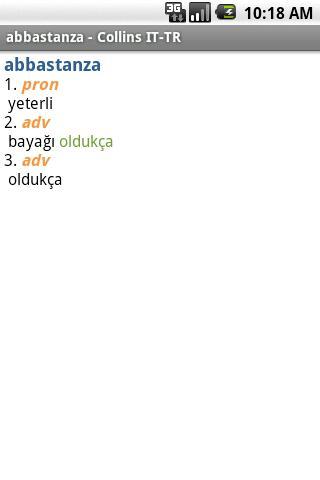 Italian<>Turkish Mini Gem Android Demo