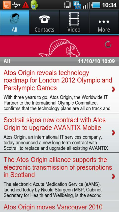 Atos News Reader Android Demo
