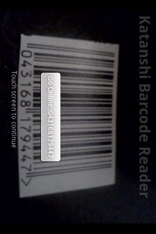 Katanshi Barcode Reader Android Demo