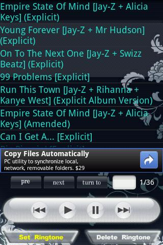 Jay-Z Android Software libraries