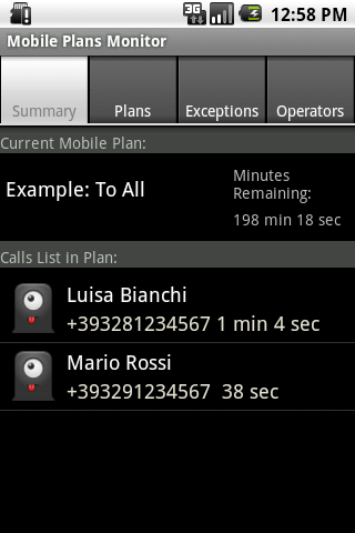 Mobile Plans Monitor Trial Android Communication