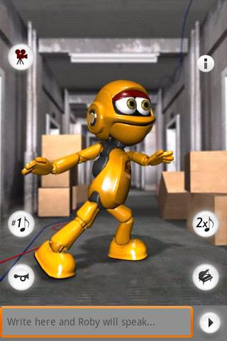 Talking Roby the Robot Free Android Entertainment