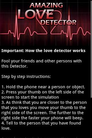 Amazing Love Detector Android Entertainment