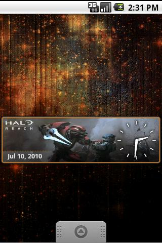 Halo Reach Clock Android Entertainment