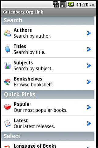 (Free Books) Gutenberg Link Android Entertainment