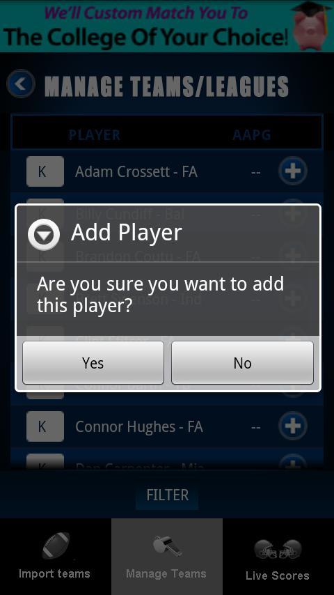 HuddleHub Fantasy Football '10 Android Sports