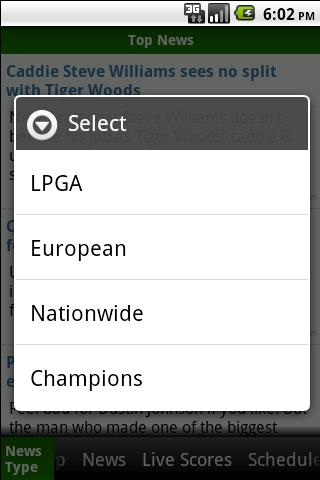 Golf Sports News Android Sports