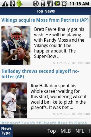Top Sports News Android Sports