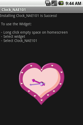 Widget Clock_NAE101 Android Tools