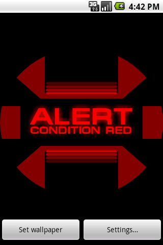 ST: Red Alert Wallpaper Free Android Personalization