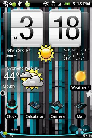 Shiny weather skin Android Personalization