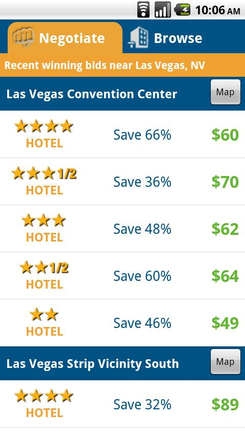 priceline Hotel Negotiator Android Travel & Local