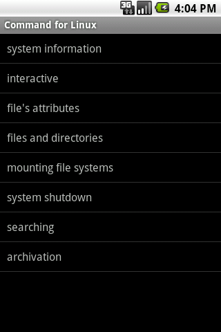 Commands for linux Android Reference