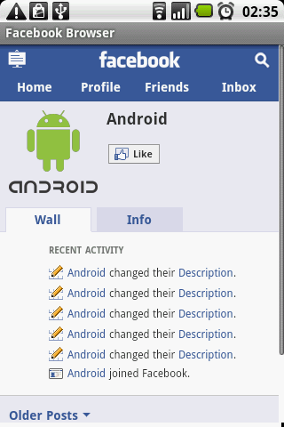 Facebook Browser Android Social