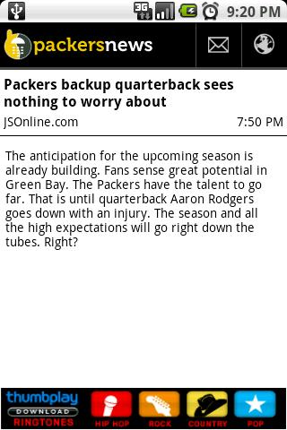 Packers News Android Sports