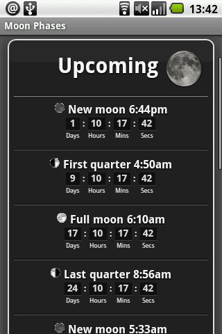 Moon Phases Android Reference