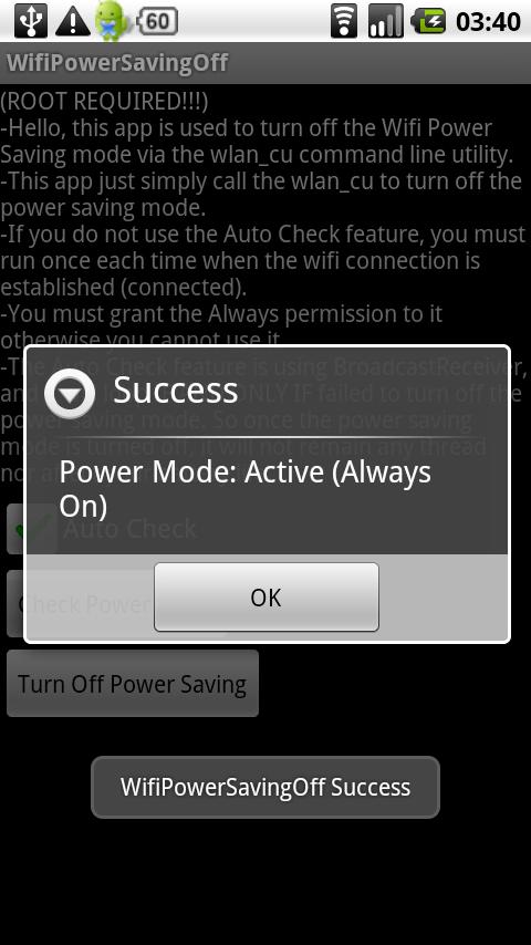 DROID/MS WifiPowerSavingOff Android Tools