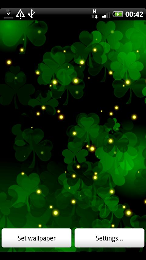Shamrock Live Wallpaper Android Personalization Best Android
